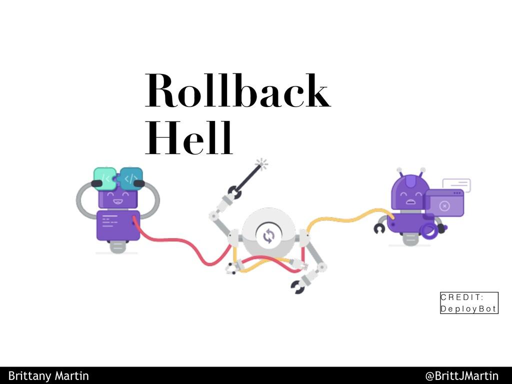 Rollback Hell C R E D I T : D e p l o y B o t B...