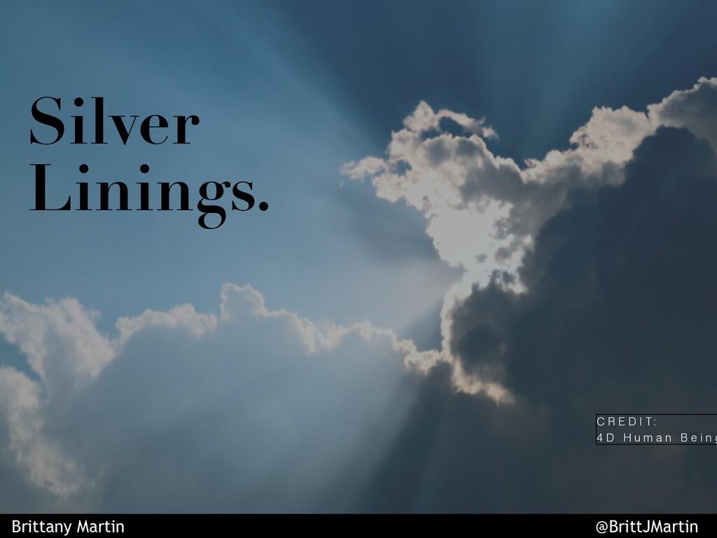 Silver Linings. C R E D I T : 4 D H u m a n B e...