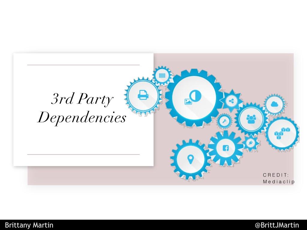 3rd Party Dependencies C R E D I T : M e d i a ...