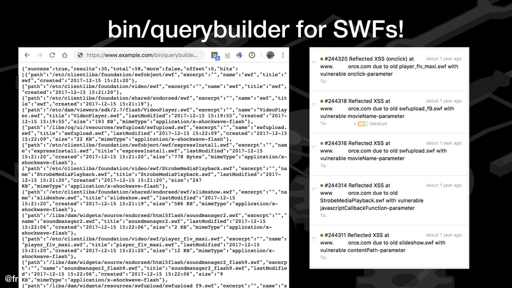 @fransrosen bin/querybuilder for SWFs!