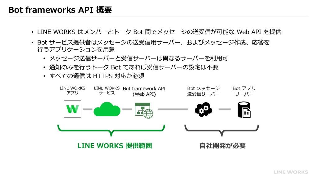 Bot frameworks API 概要 • LINE WORKS はメンバーとトーク Bo...