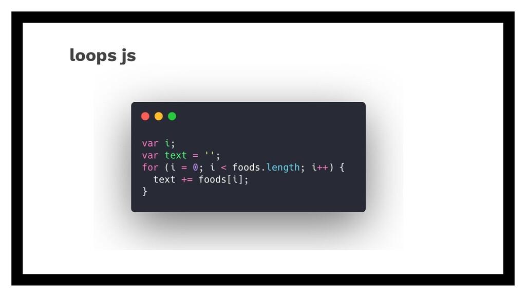 loops js
