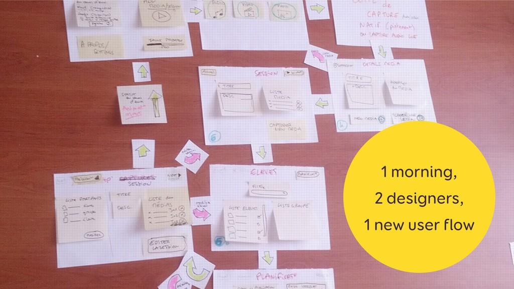 1 morning, 2 designers, 1 new user flow