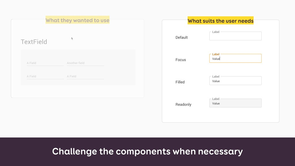 Challenge the components when necessary What th...