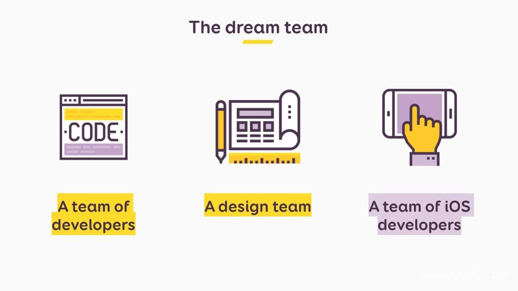 The dream team Stéphanie Walter - 2019 A team o...
