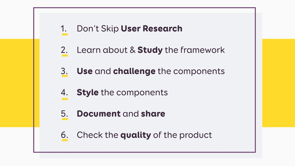 1. Don't Skip User Research 2. Learn about & St...