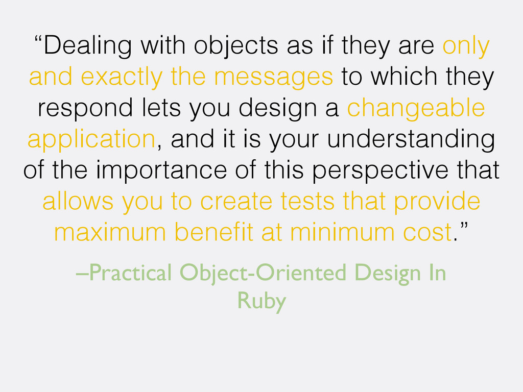 "–Practical Object-Oriented Design In Ruby ""Deal..."