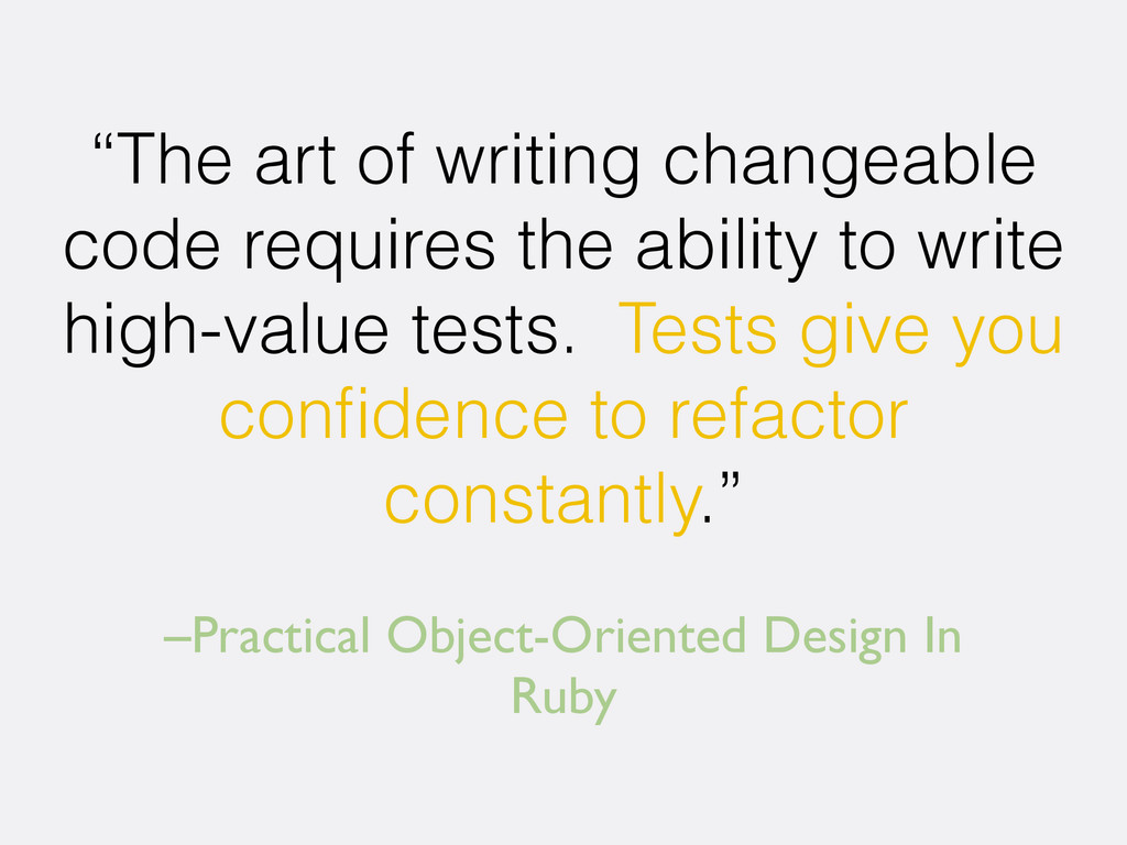 """–Practical Object-Oriented Design In Ruby """"The ..."""