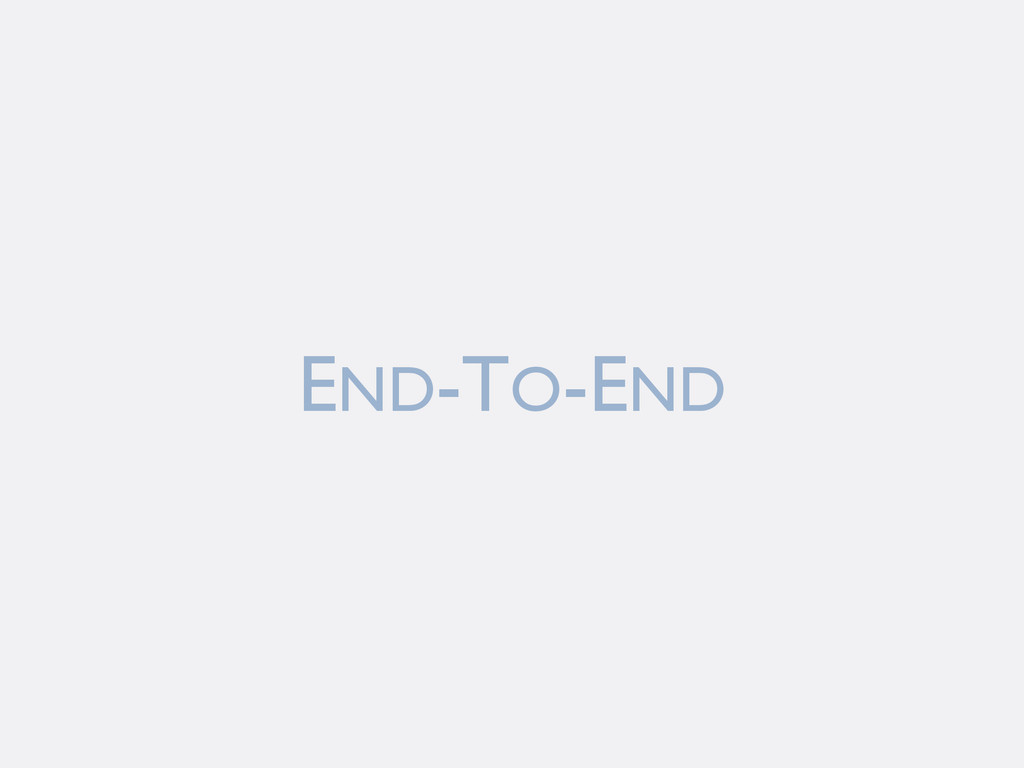 END-TO-END