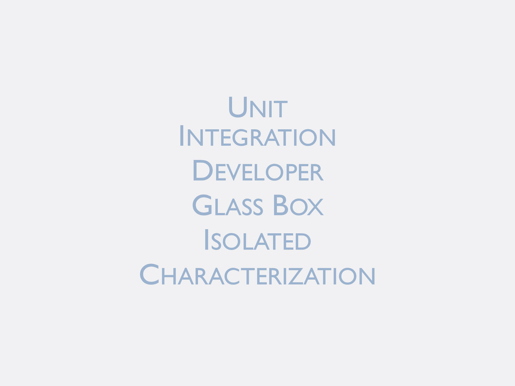 INTEGRATION DEVELOPER GLASS BOX ISOLATED CHARAC...
