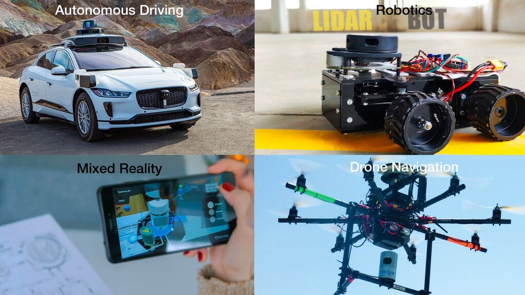 4 Autonomous Driving Robotics Mixed Reality Dro...