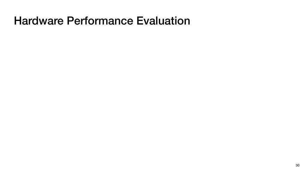 Hardware Performance Evaluation 30