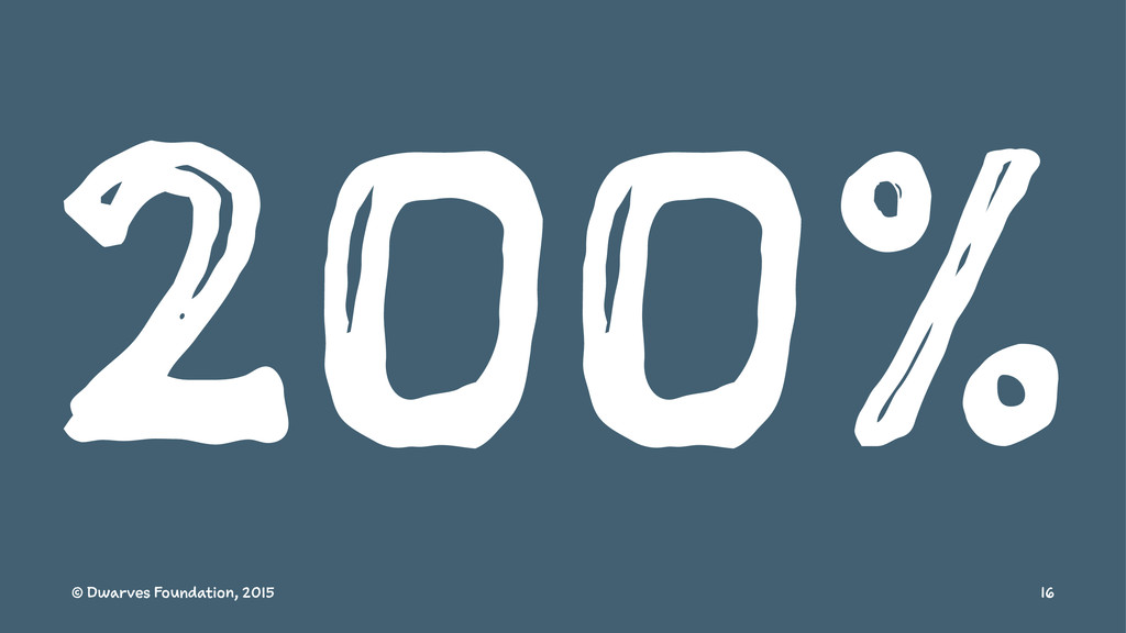 200% © Dwarves Foundation, 2015 16