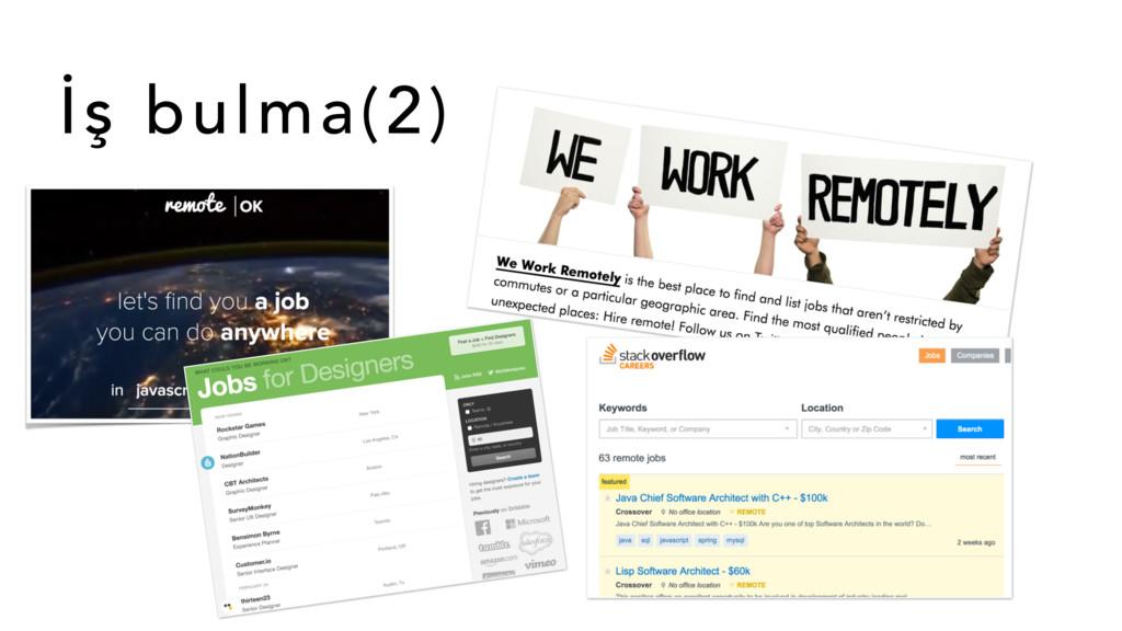 İş bulma(2)