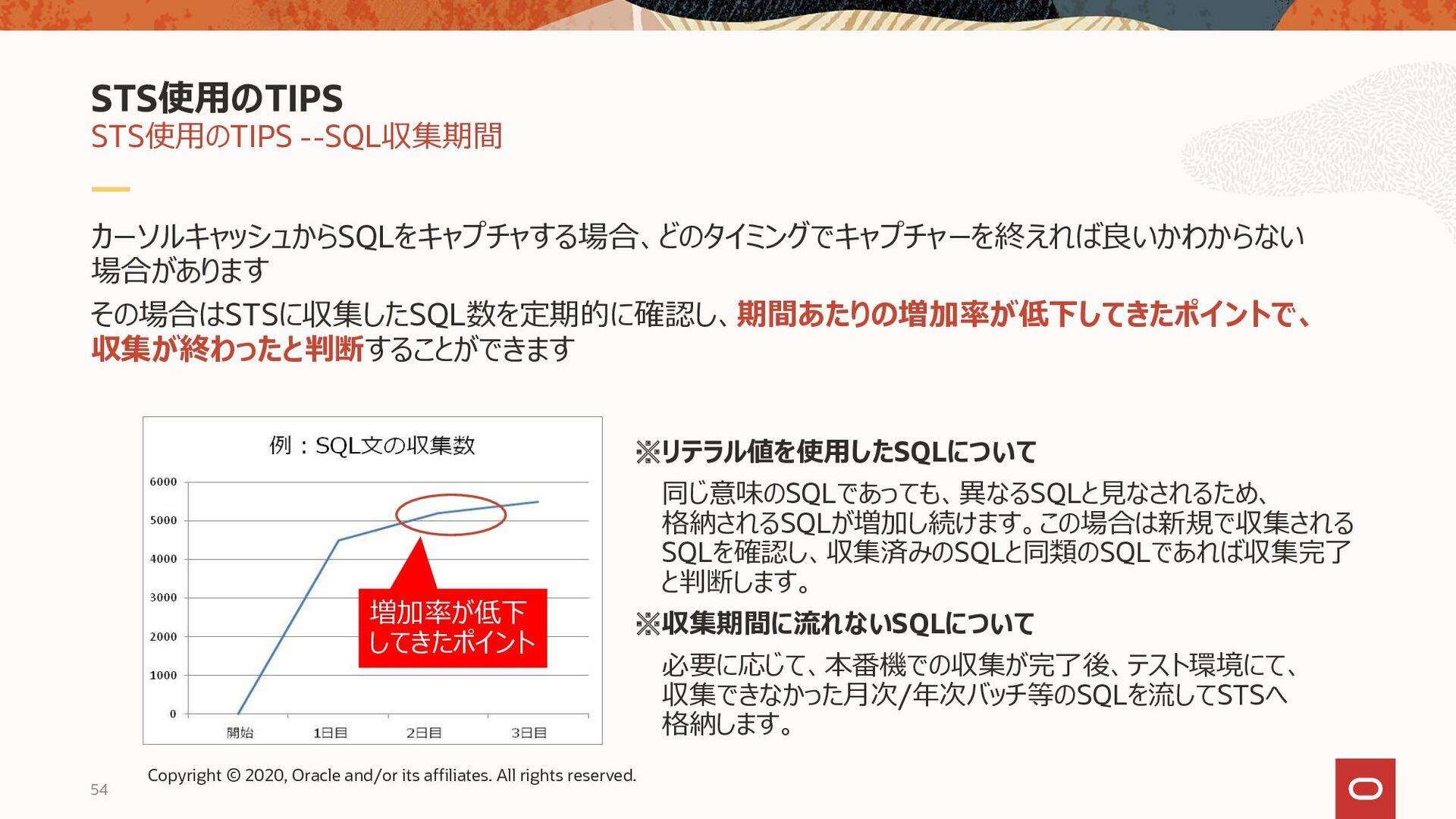 54 カーソルキャッシュからSQLをキャプチャする場合、どのタイミングでキャプチャーを終えれば...