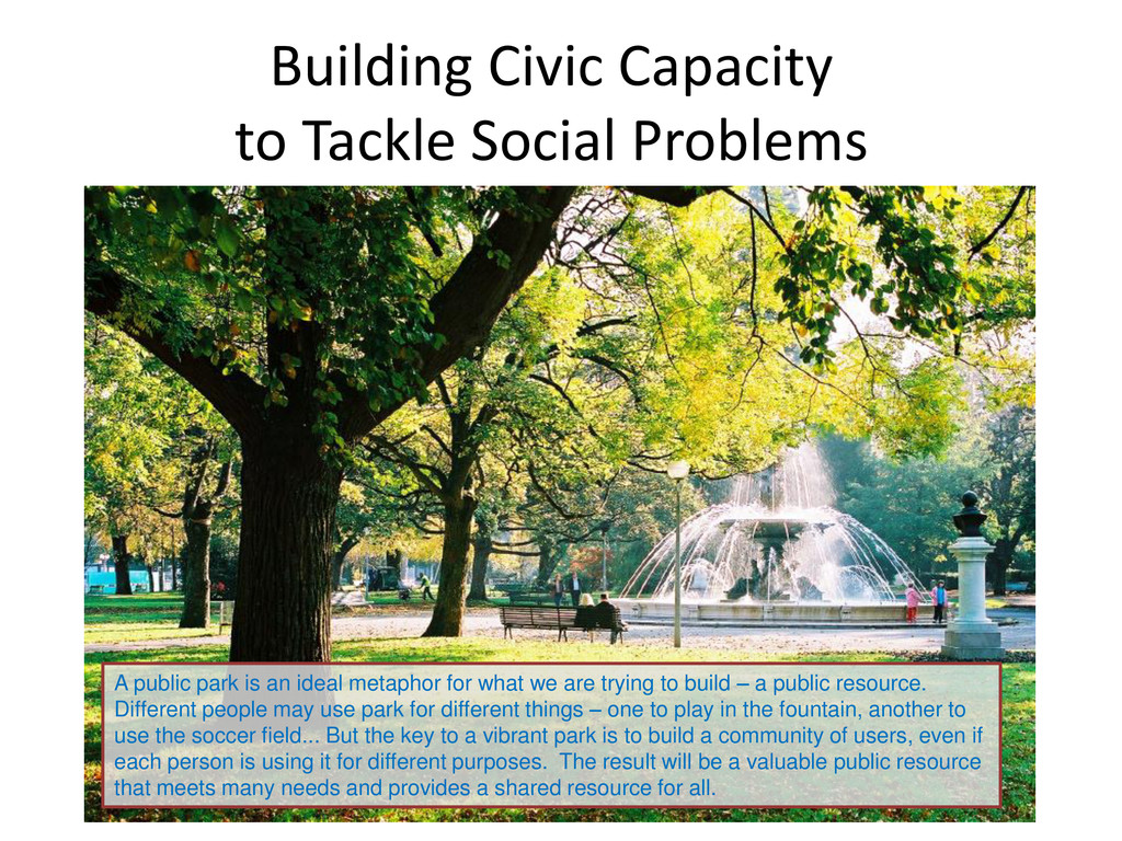 Building Civic Capacity to Tackle Social Proble...