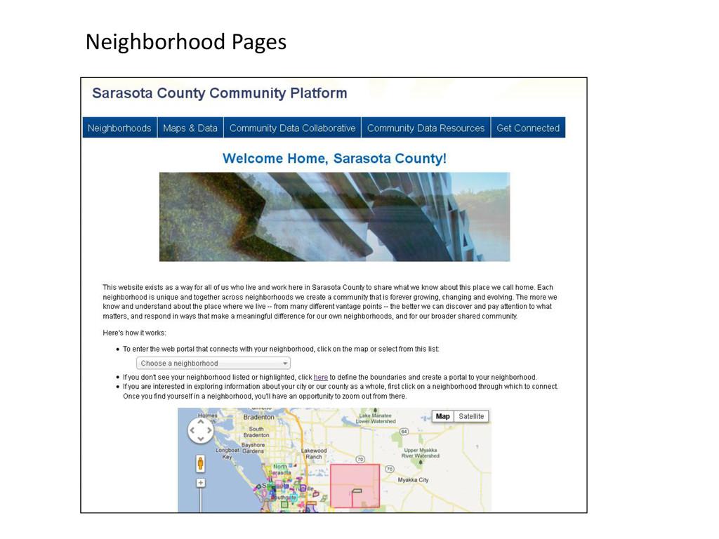 Neighborhood Pages