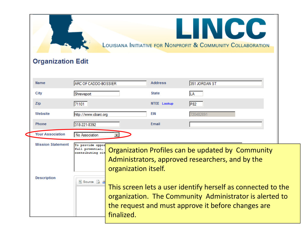 Organization Profiles can be updated by Communi...