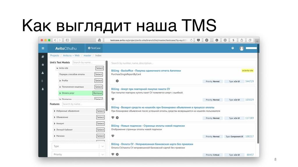 Как выглядит наша TMS 8