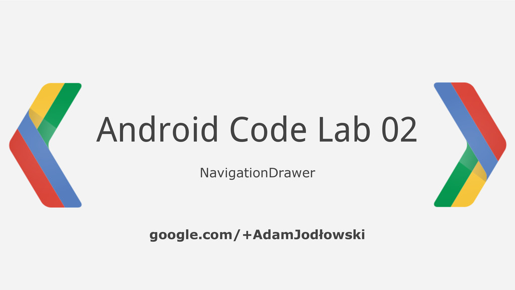 Android Code Lab 02 NavigationDrawer google.com...