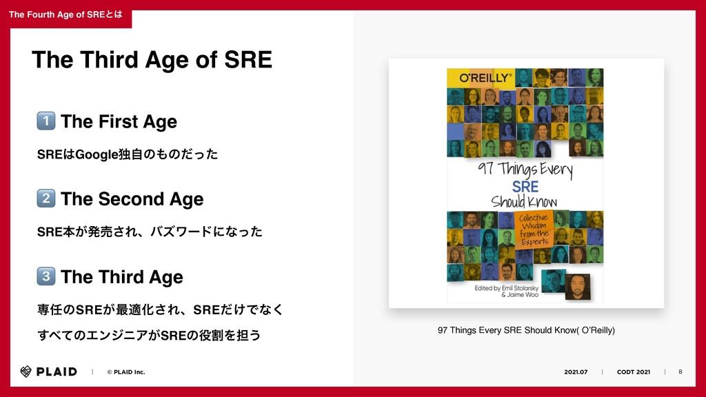 2021.07ɹɹʛɹɹCODT 2021ɹɹʛɹ The Fourth Age of SRE...