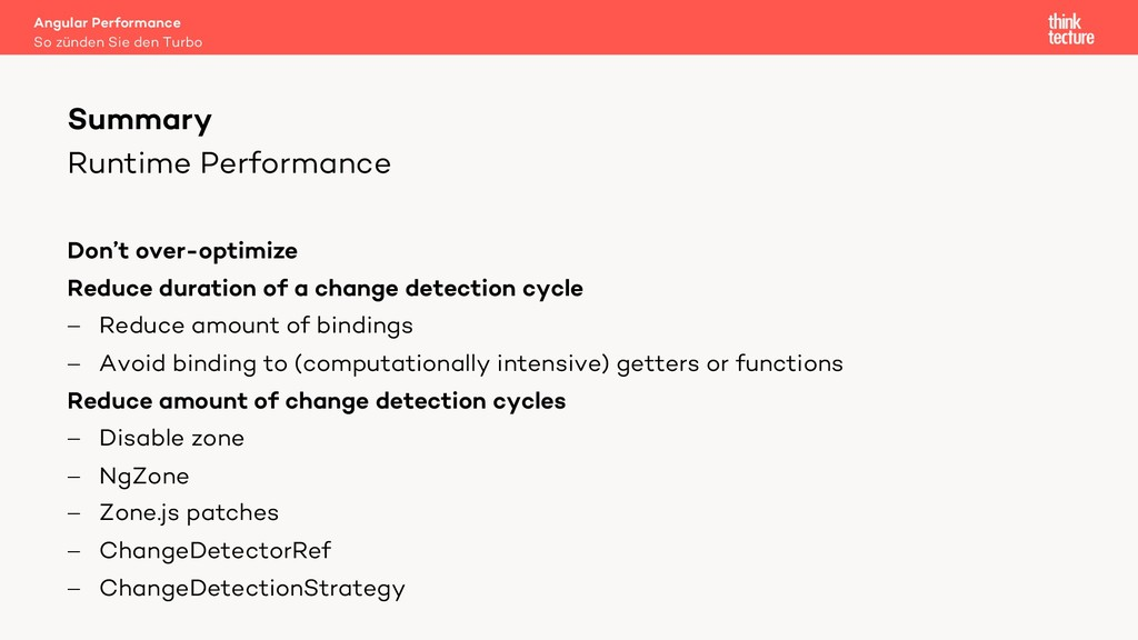 Runtime Performance Don't over-optimize Reduce ...