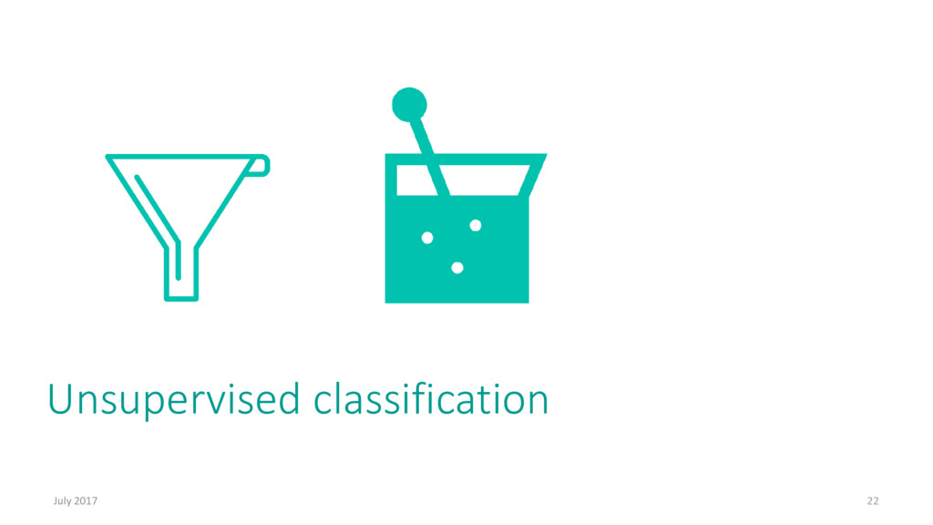 Unsupervised classification July 2017 22