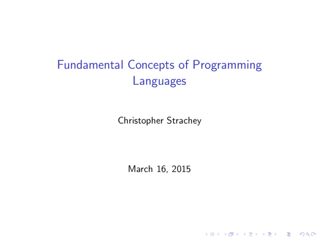 Fundamental Concepts of Programming Languages C...