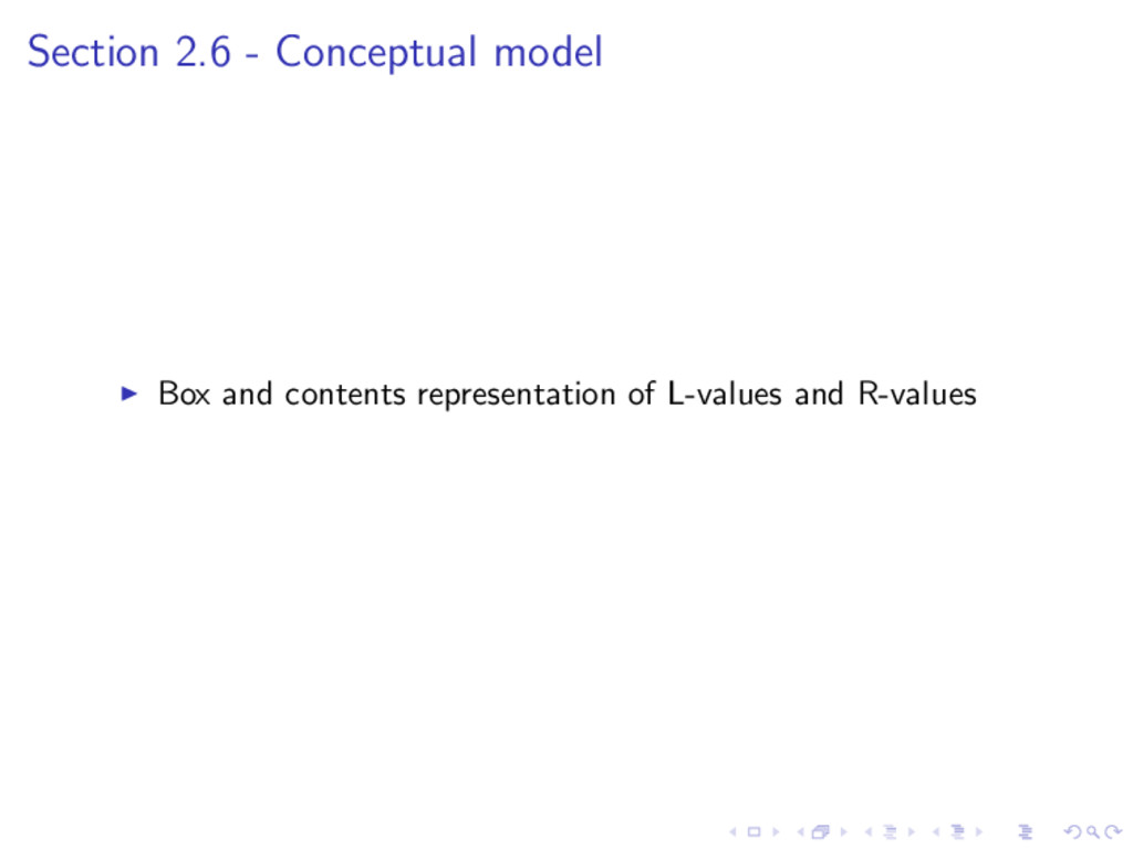 Section 2.6 - Conceptual model Box and contents...