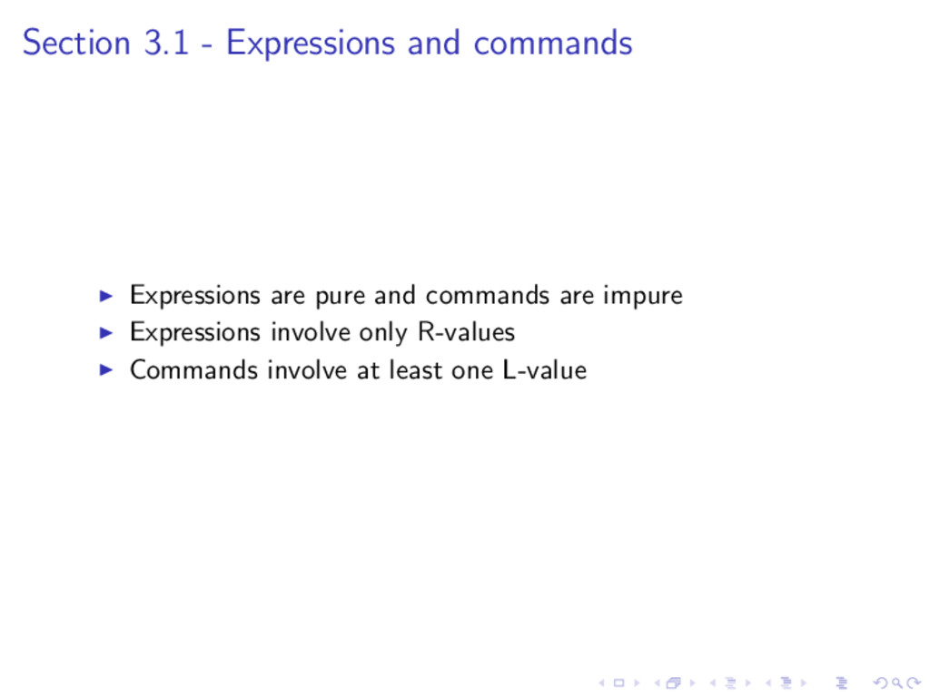 Section 3.1 - Expressions and commands Expressi...