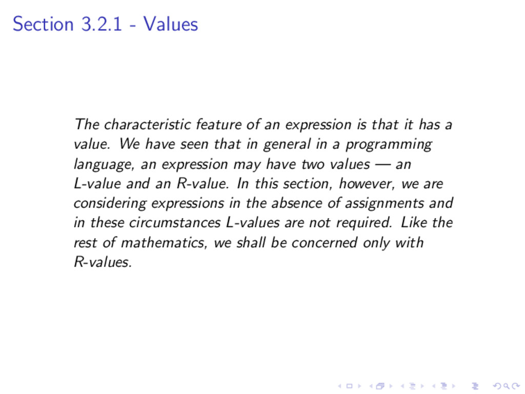 Section 3.2.1 - Values The characteristic featu...