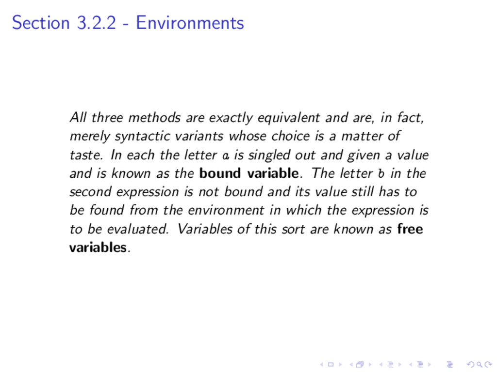Section 3.2.2 - Environments All three methods ...