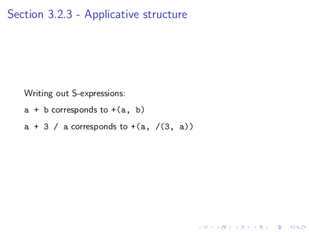 Section 3.2.3 - Applicative structure Writing o...