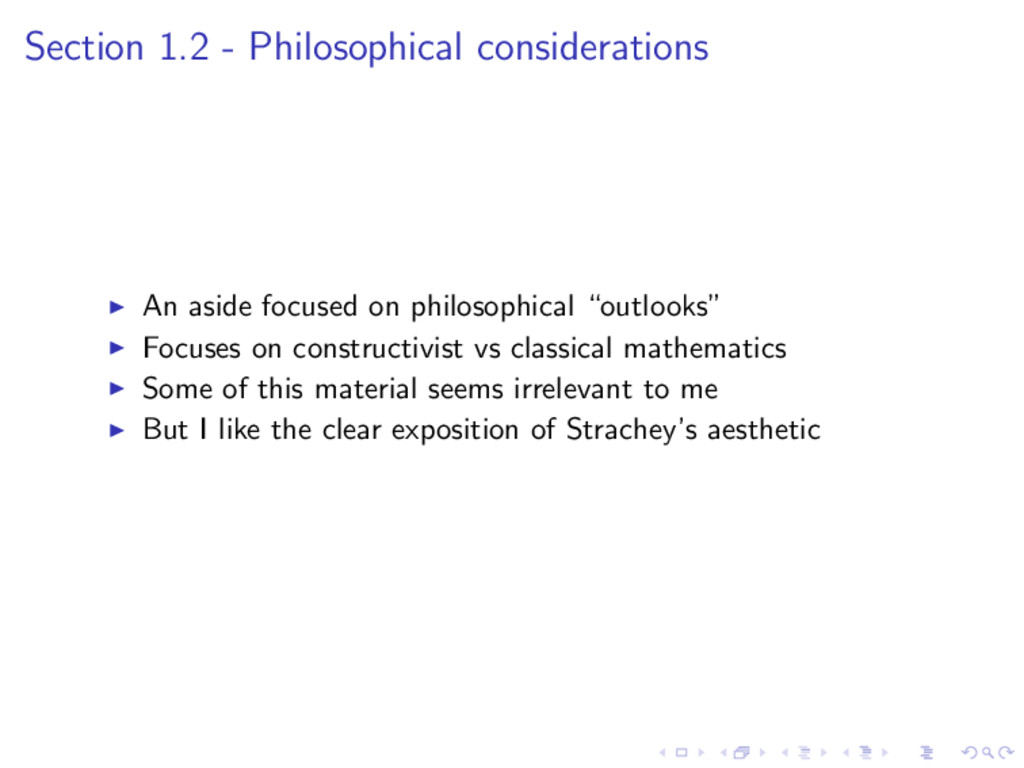Section 1.2 - Philosophical considerations An a...