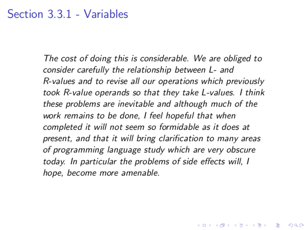 Section 3.3.1 - Variables The cost of doing thi...