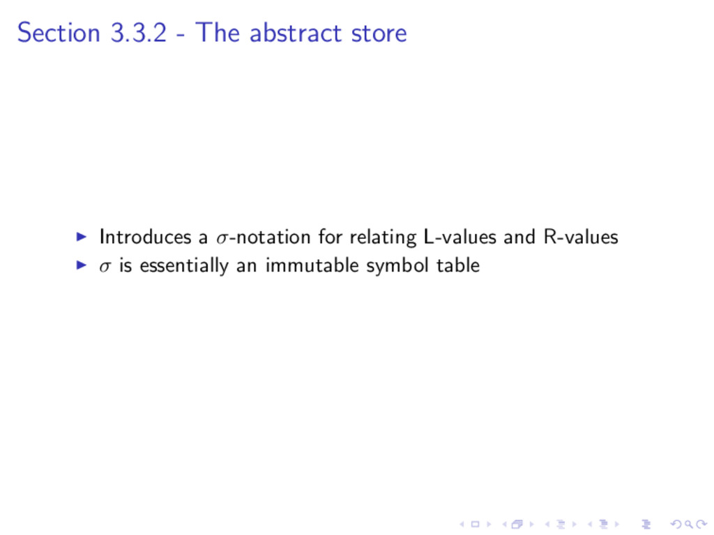 Section 3.3.2 - The abstract store Introduces a...