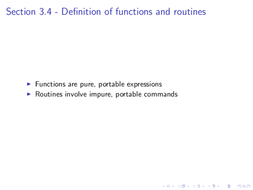 Section 3.4 - Definition of functions and routin...