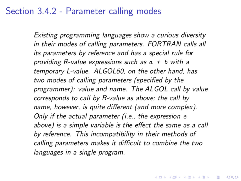 Section 3.4.2 - Parameter calling modes Existin...