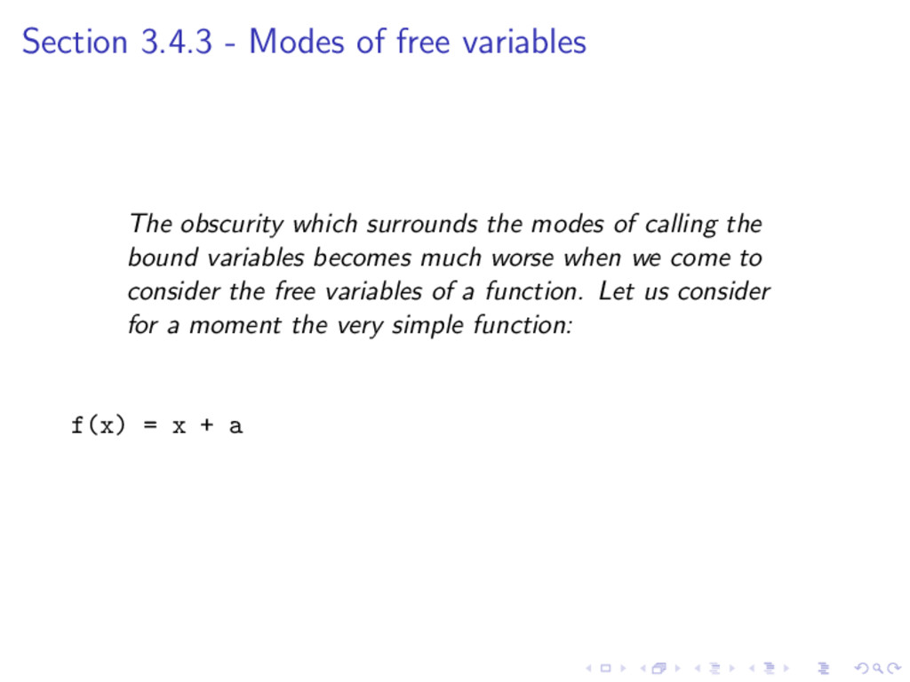 Section 3.4.3 - Modes of free variables The obs...