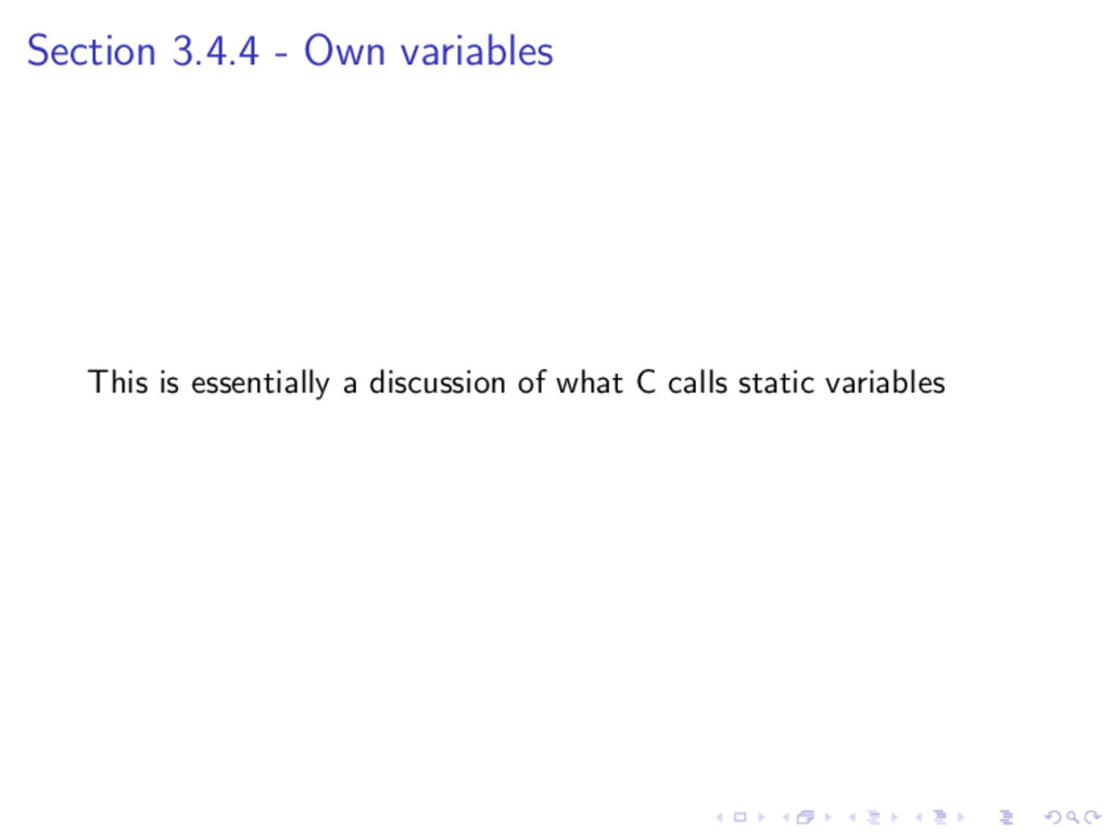 Section 3.4.4 - Own variables This is essential...
