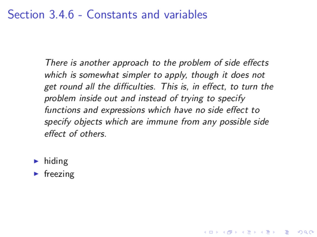 Section 3.4.6 - Constants and variables There i...