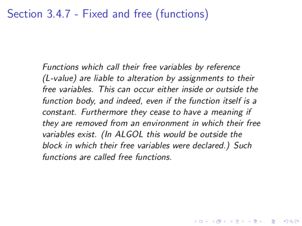 Section 3.4.7 - Fixed and free (functions) Func...