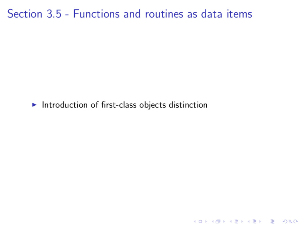 Section 3.5 - Functions and routines as data it...