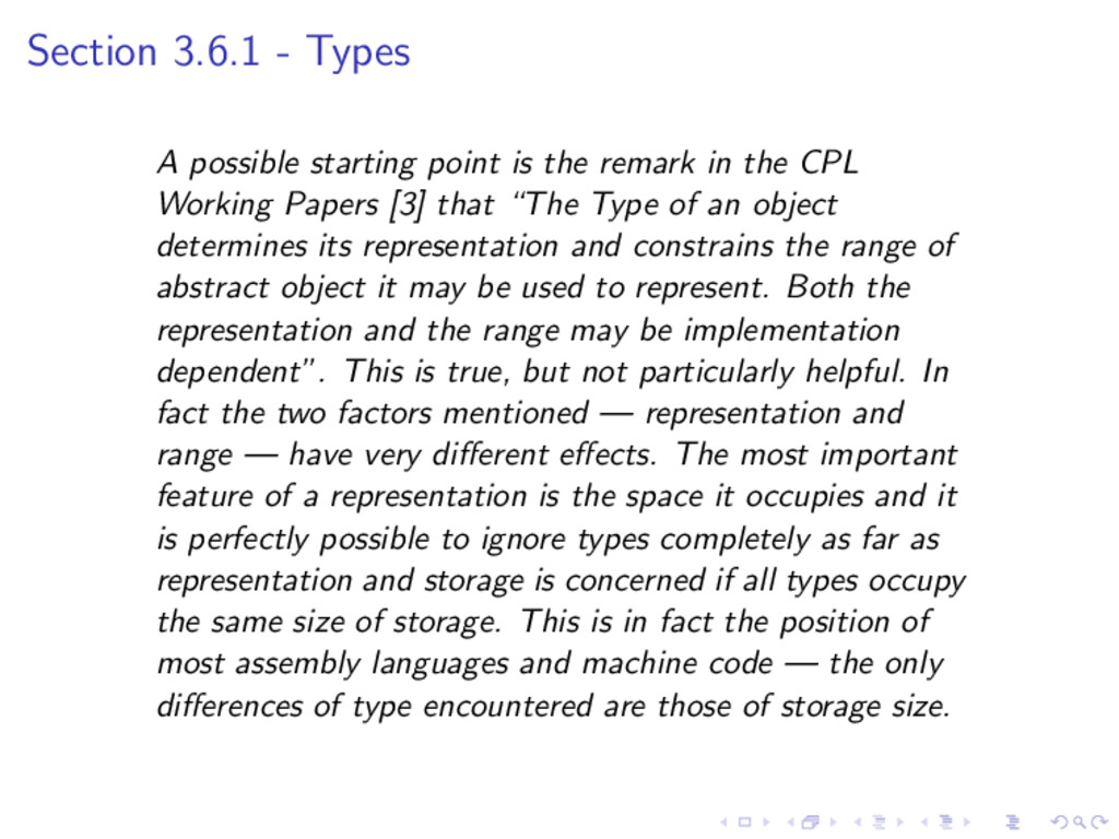 Section 3.6.1 - Types A possible starting point...