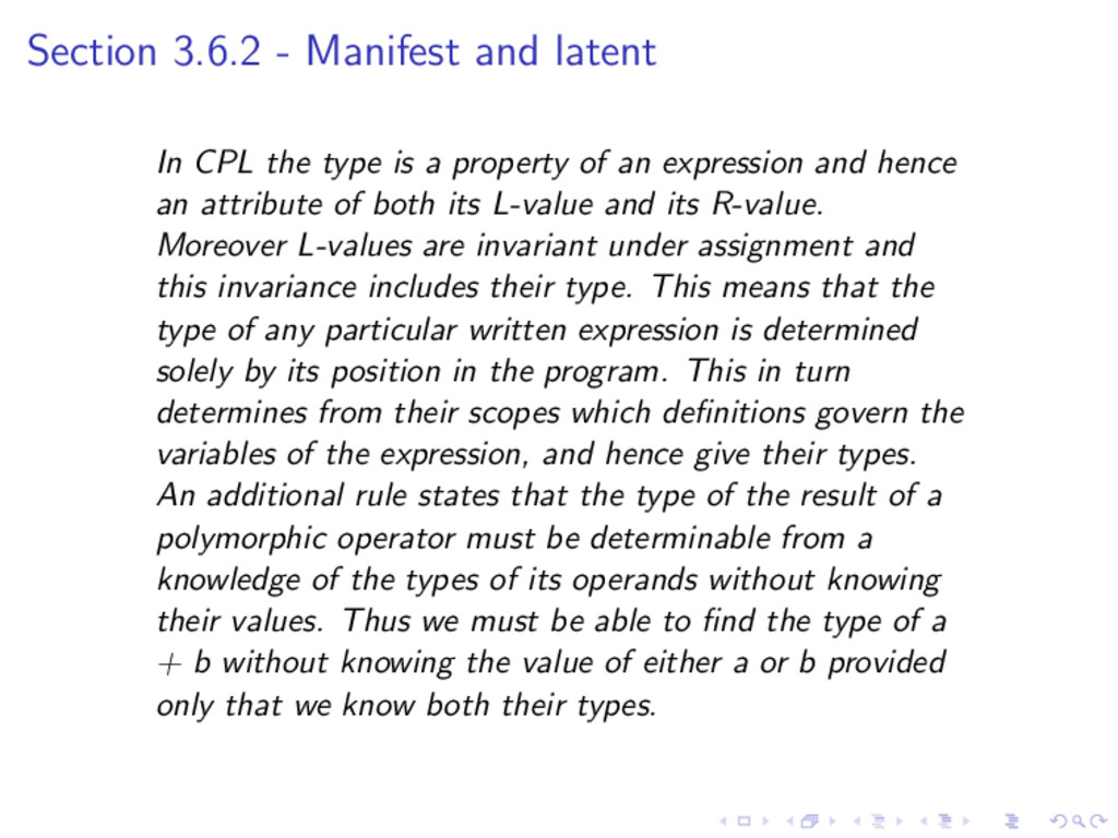 Section 3.6.2 - Manifest and latent In CPL the ...