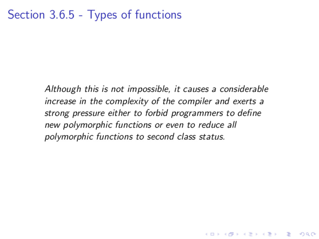 Section 3.6.5 - Types of functions Although thi...