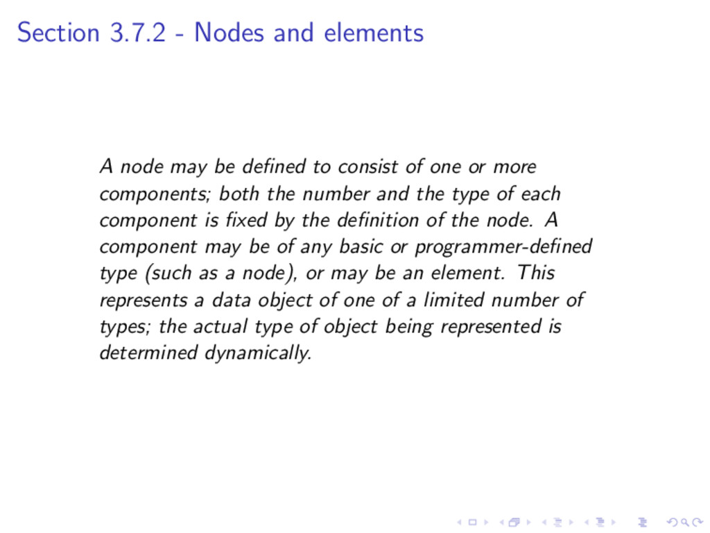 Section 3.7.2 - Nodes and elements A node may b...