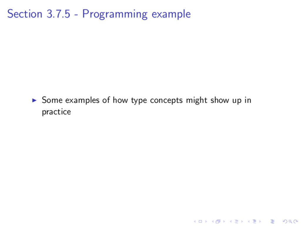 Section 3.7.5 - Programming example Some exampl...
