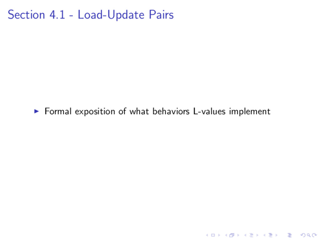 Section 4.1 - Load-Update Pairs Formal expositi...