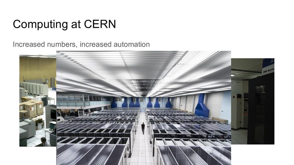 Computing at CERN Increased numbers, increased ...